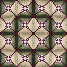 Kit Quilt star in log cabin